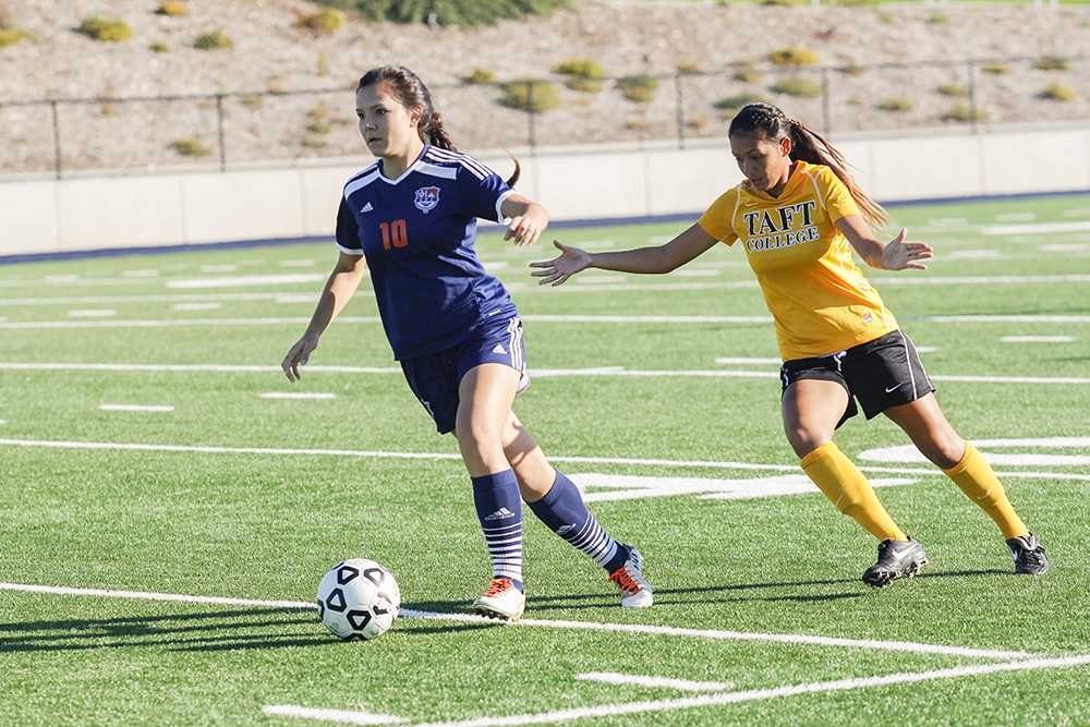 Hawks freshman defender Erica Lim received one assist in the second round of playoffs against Taft college on Nov. 25 and scored the one goal that allowed the Hawks to win round three against Modesto on Nov. 29.