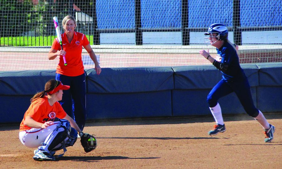 Softball team develops rapport, skill in fall camp