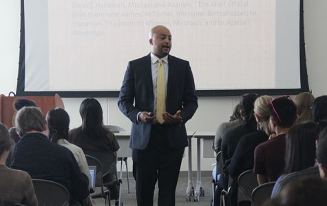 College president gives speech on how to form personal leadership models