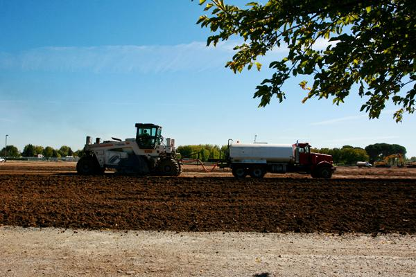 Construction begins on new sports facilities