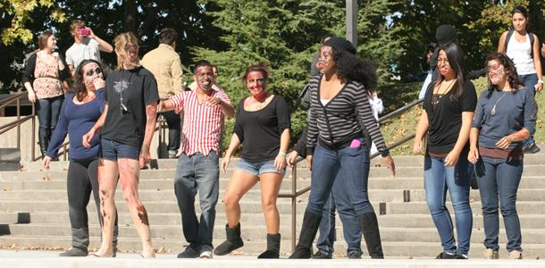 ASG performs Thriller dance to promote Halloween on campus