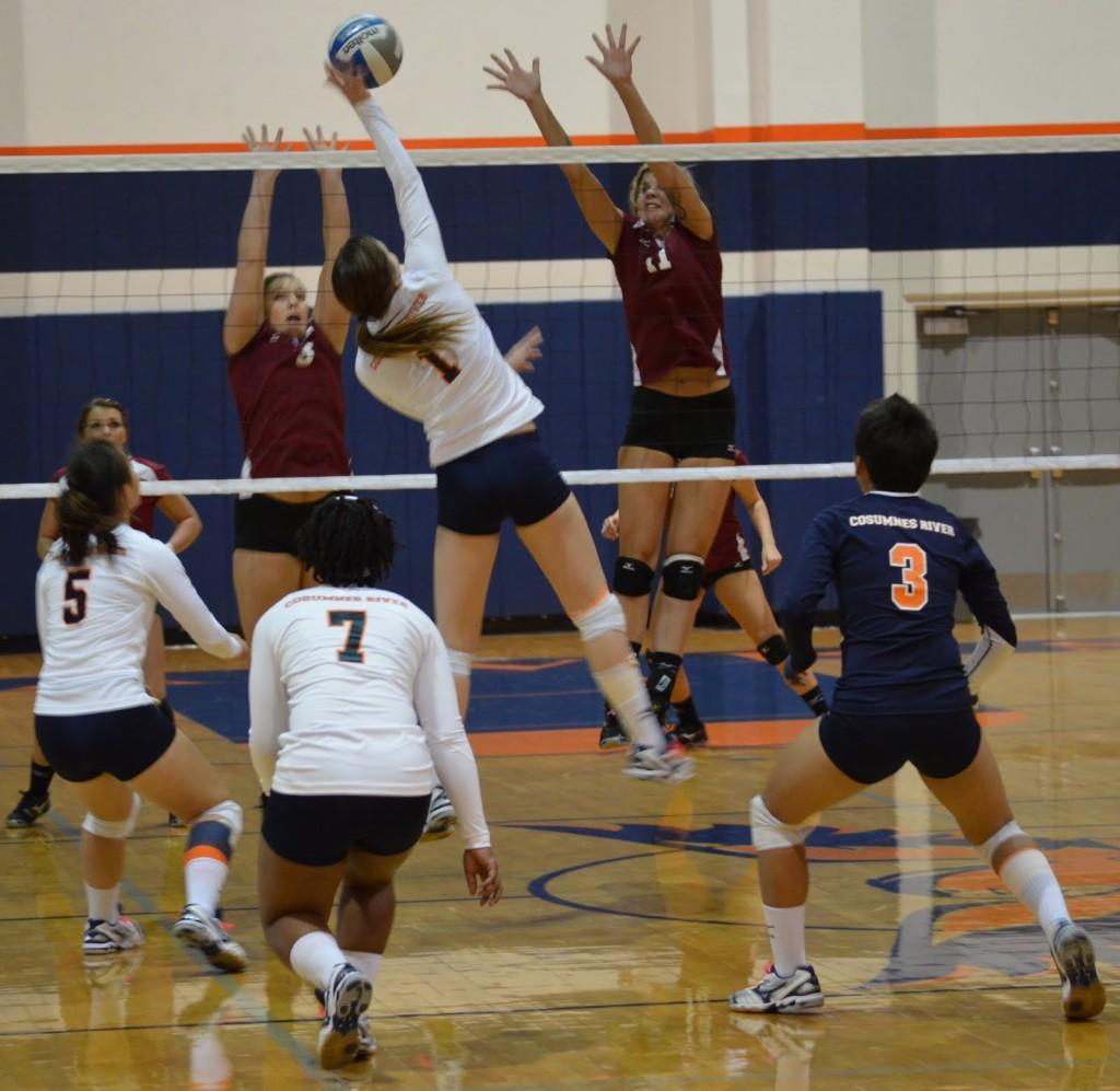 Volleyball team still optimistic despite loss to Sierra