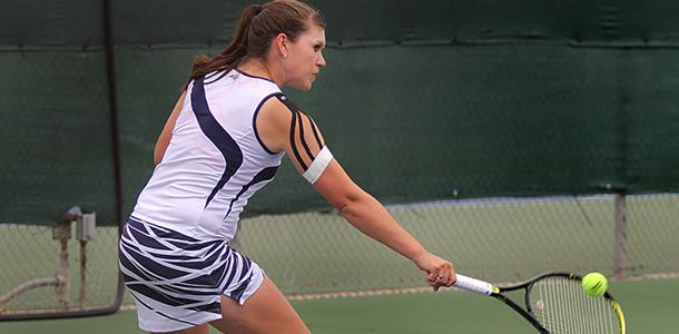 Shorthanded women's tennis team finishes off season