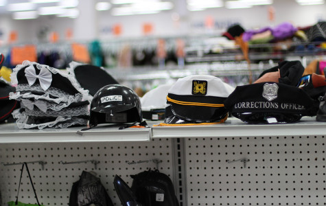 A various assortment of costume hats sold at the Goodwill on Florin Road.