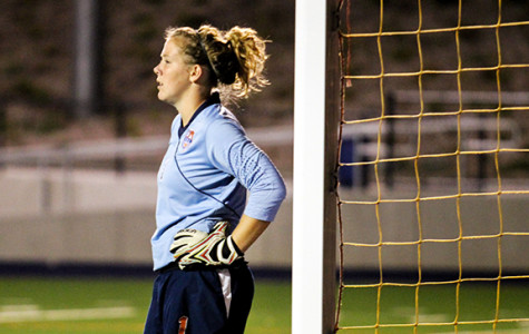 Freshman goalkeeper stands tall in front of the net