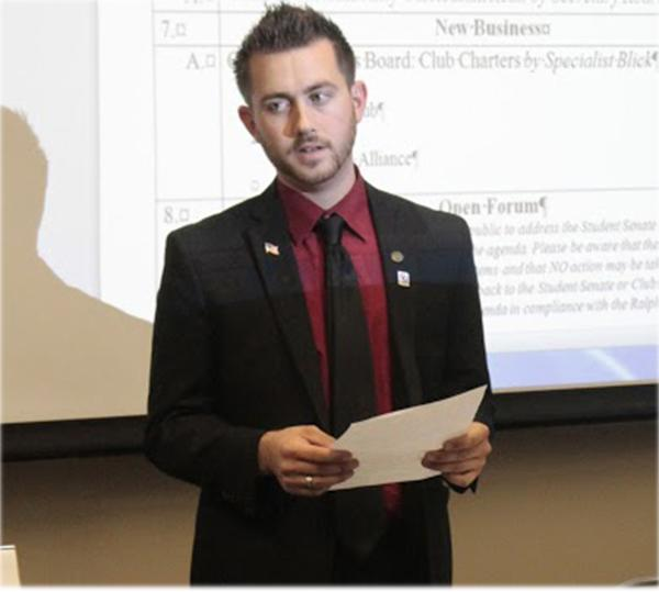 Student president has a vision for campus