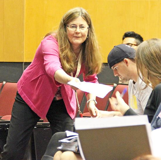 Psychology Professor Jeanne Edman educates students on the
