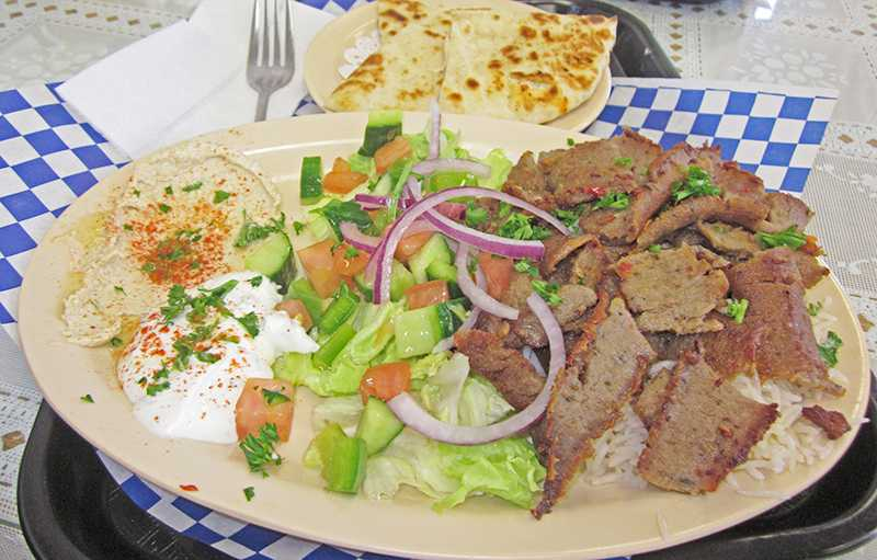 Kabob and Gyro Grill, located on Laguna Blvd, serves a lamb platter consisting of thinly marinated slices of lamb over basmati rice, and served with a side of salad, hummus, tzatziki (cucumber sauce) and a hot piece of pita bread on Oct 24.