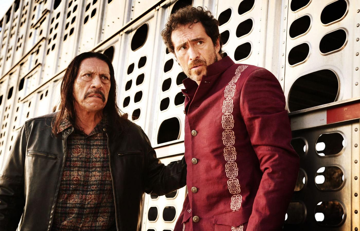Danny Trejo (Machete), left, and Demian Bichir (Mendez) attempt to get back into the United States in