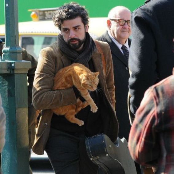 LLewyn Davis (Oscar Issacs), with one of two feline companions in tow, bounces around 1960s New York City trying to find his place in an increasingly difficult to live in world.