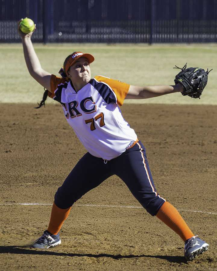 Freshman+pitcher+Amanda+Horbasch+threw+a+shutout+game+with+13+strikeouts+in+Cosumnes+River+College%27s+home+opener+against+Lassen+Community+College.++The+game+was+called+in+the+bottom+of+the+sixth+inning+when+the+Hawks+scored+their+eighth+unanswered+run+of+the+game.