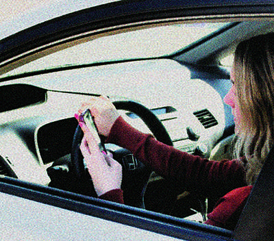 Young adults are most likely to be distracted by a cell phone while driving.