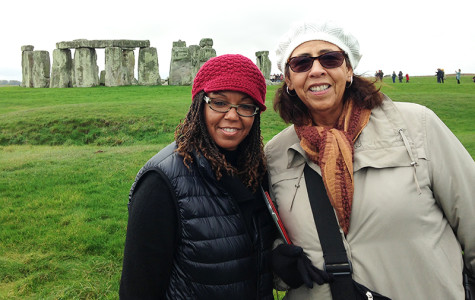 Harris-Mathews (left) and professor Sondra Saterfield (right) from the College of San Mateo visit Stonehenge in Wiltshire, England as a part of the British Life and Culture class. Students had many opportunities to learn outside of the classroom by combining lectures with organized field trips.