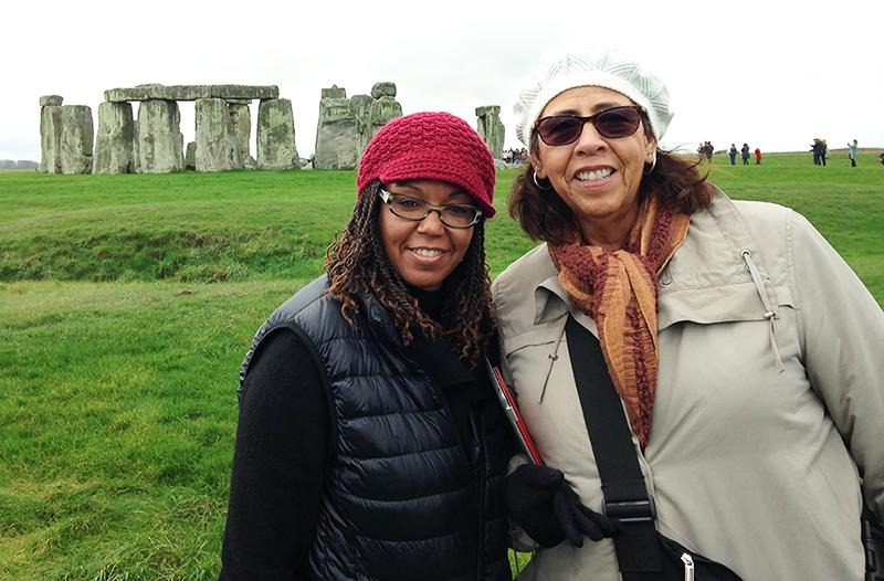Harris-Mathews+%28left%29+and+professor+Sondra+Saterfield+%28right%29+from+the+College+of+San+Mateo+visit+Stonehenge+in+Wiltshire%2C+England+as+a+part+of+the+British+Life+and+Culture+class.+Students+had+many+opportunities+to+learn+outside+of+the+classroom+by+combining+lectures+with+organized+field+trips.