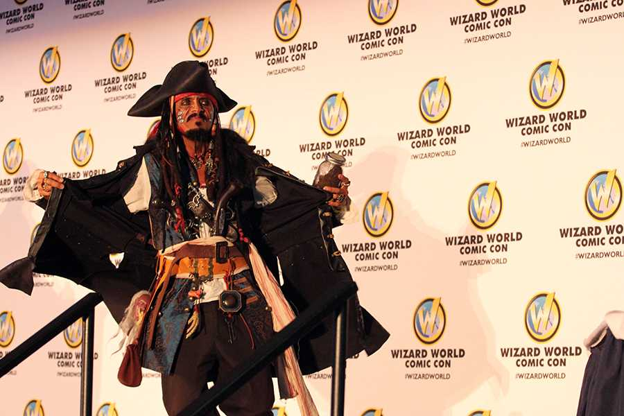 An attendee came clad as Captain Jack Sparrow, the pirate character made famous by Johnny Depp in