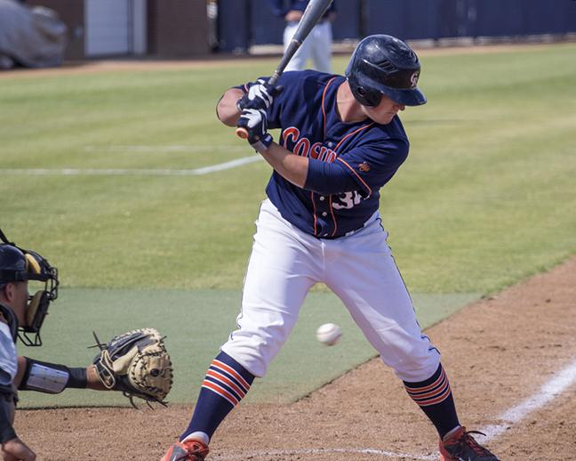 Cosumnes+River+College+freshman+first+baseman+Nathan+Ahlers+strikes+out+against+San+Joaquin+Delta+College+in+the+Hawks%27+home+game+on+April+21.+The+Hawks+went+on+to+win+the+game+1-0+and+are+now+tied+for+first+place+in+the+Big+8+Conference.