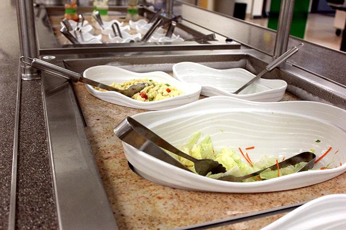 Cosumnes River College features a salad bar in their cafeteria, along with other healthy options.