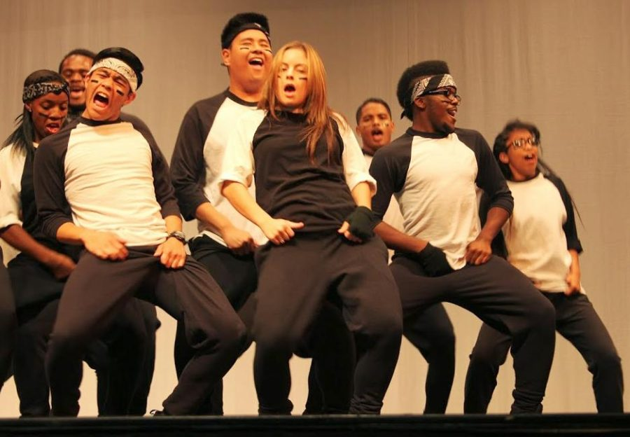 Dance students enthusiastically perform at the end of the semester dance showcase in CRC's Recital Hall on May 10.