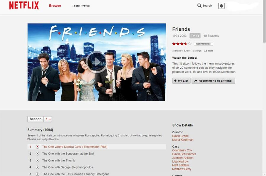 Netflix adds Friends and other programs to streaming offerings for January