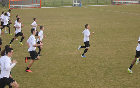 Sacramento Republic FC players jogging during their practice on Feb. 2.