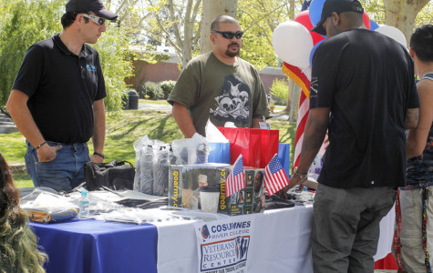 Members of the Cosumnes River College Veteran's Resource Center had a table in the quad to bring awareness of the services they offer to veterans. Students that attended the fair voted for their favorite club or group, and the VRC received the most votes to win the 2015 Spirit Award and a $250 check on March 25.