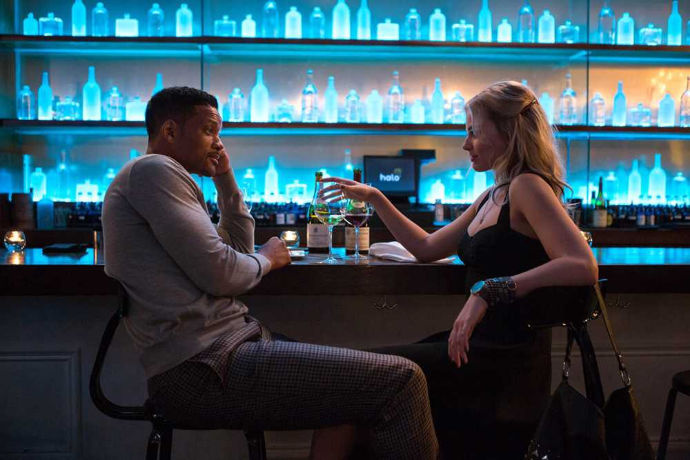 Will Smith and Margot Robbie co-star as con artists in the new Warner Bros. film