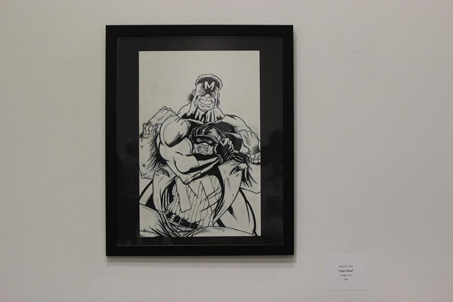 Many of Love's pieces are on display in the gallery until April 24, including the pictured piece titled