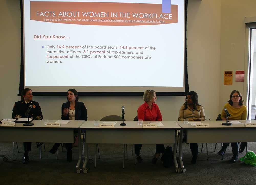 All leaders in their respective careers and fields, six women led a panel for Women's History Month where they spoke with students about their experiences on their career and educational paths on March 9.