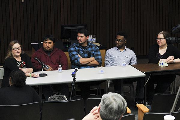 Cosumnes River College Radio, Television and Film alumni held a panel alongside RTVF Professor Lauren Wagner to discuss career possibilities in the field with current students on March 23.