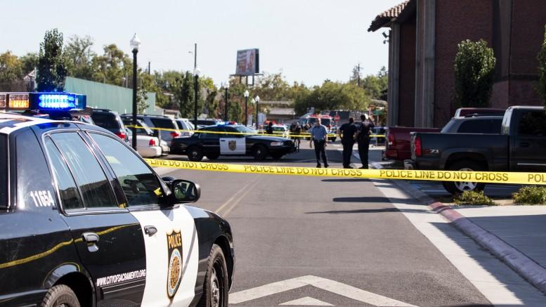 Police investigate the shooting on the Sacramento City College campus on Sept. 3