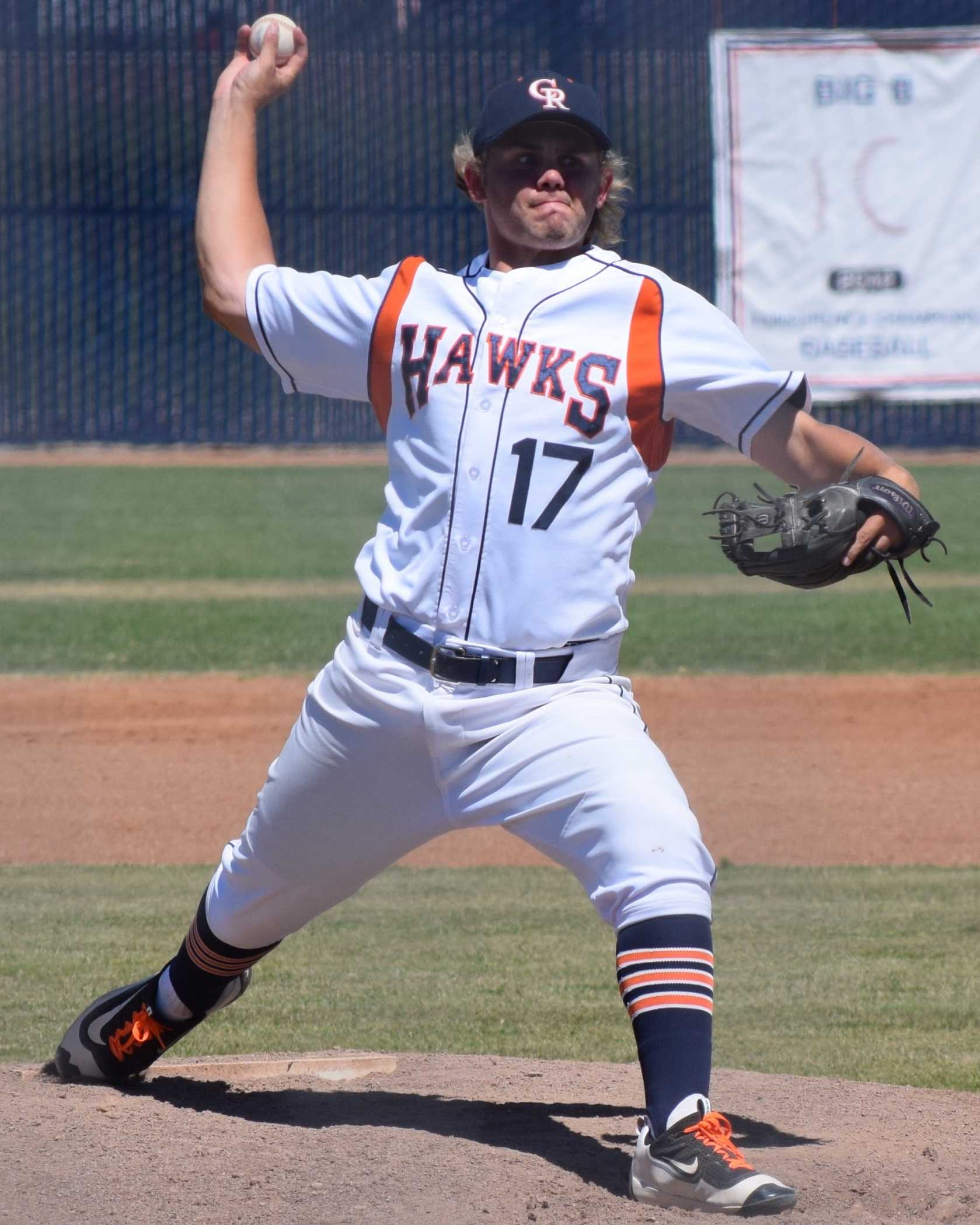 P Matt Satfford threw three shutout innings in the Hawks' win over Santa Rosa