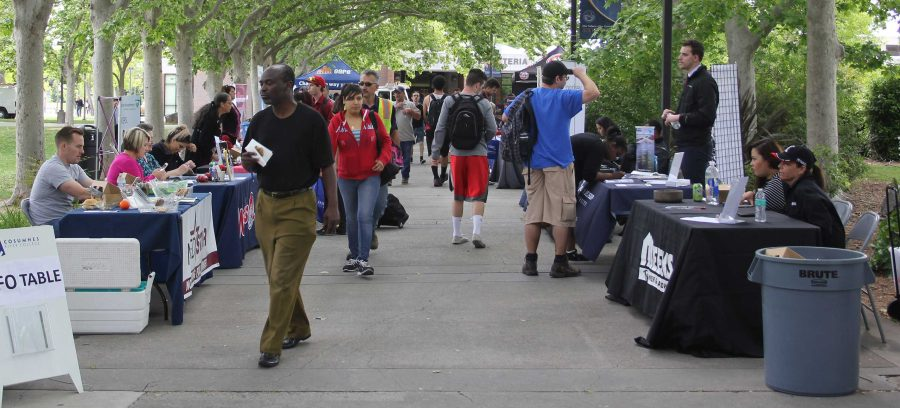 Plenty+of+vendors+were+out+offering+opportunities+to+students+on+April+27.++This+was+the+largest+career+fair+the+campus+has+put+on+since+the+start+of+the+program.