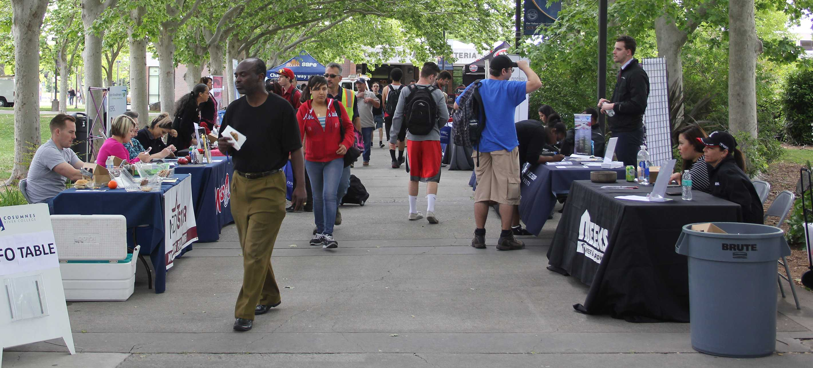 Plenty of vendors were out offering opportunities to students on April 27.  This was the largest career fair the campus has put on since the start of the program.