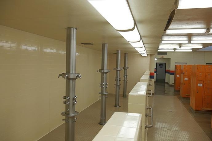 Showers in the P.E. building are open to homeless students Monday through Thursday, from 7-8 a.m.