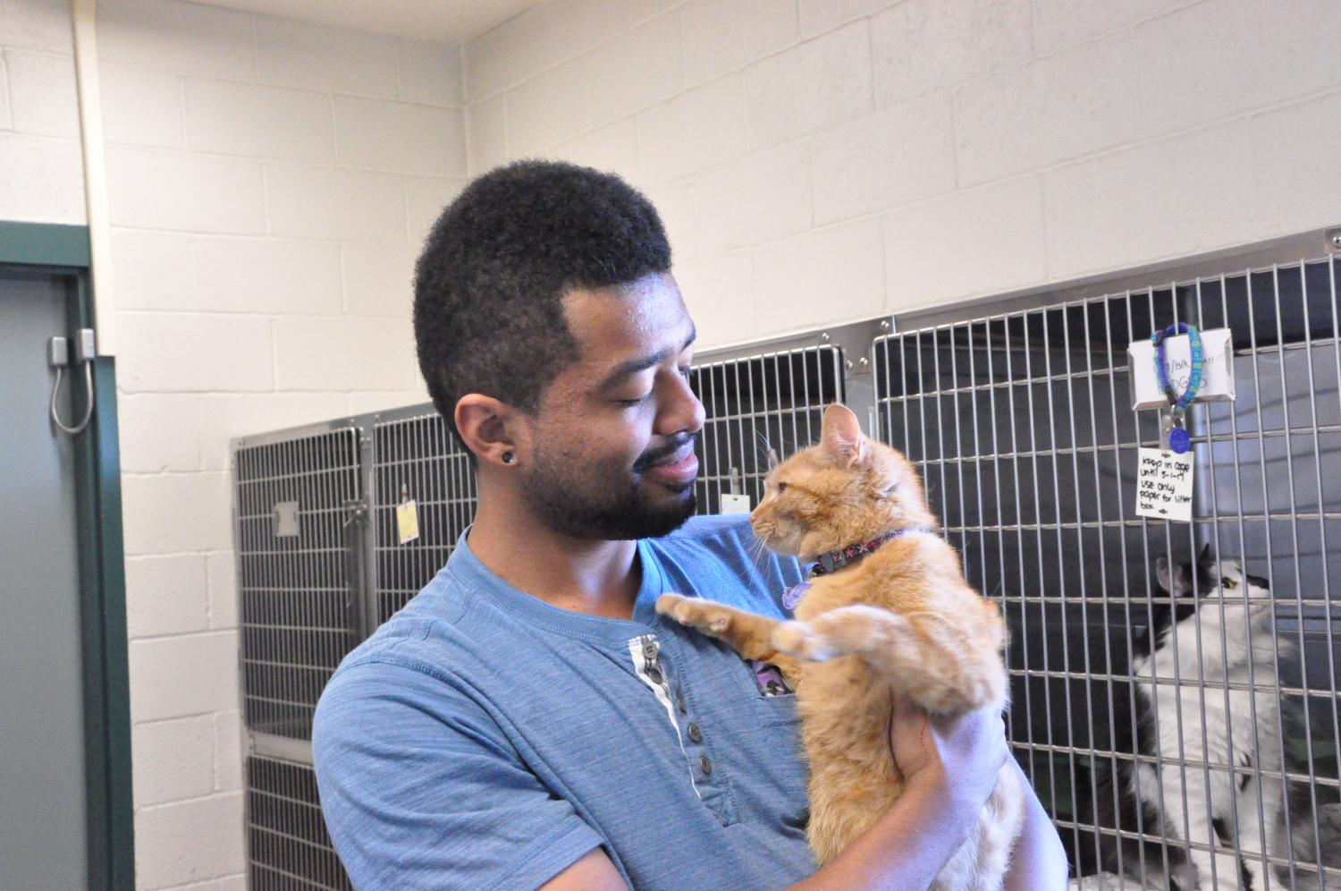 CRC Vet techs held adoption day for cats and dogs.