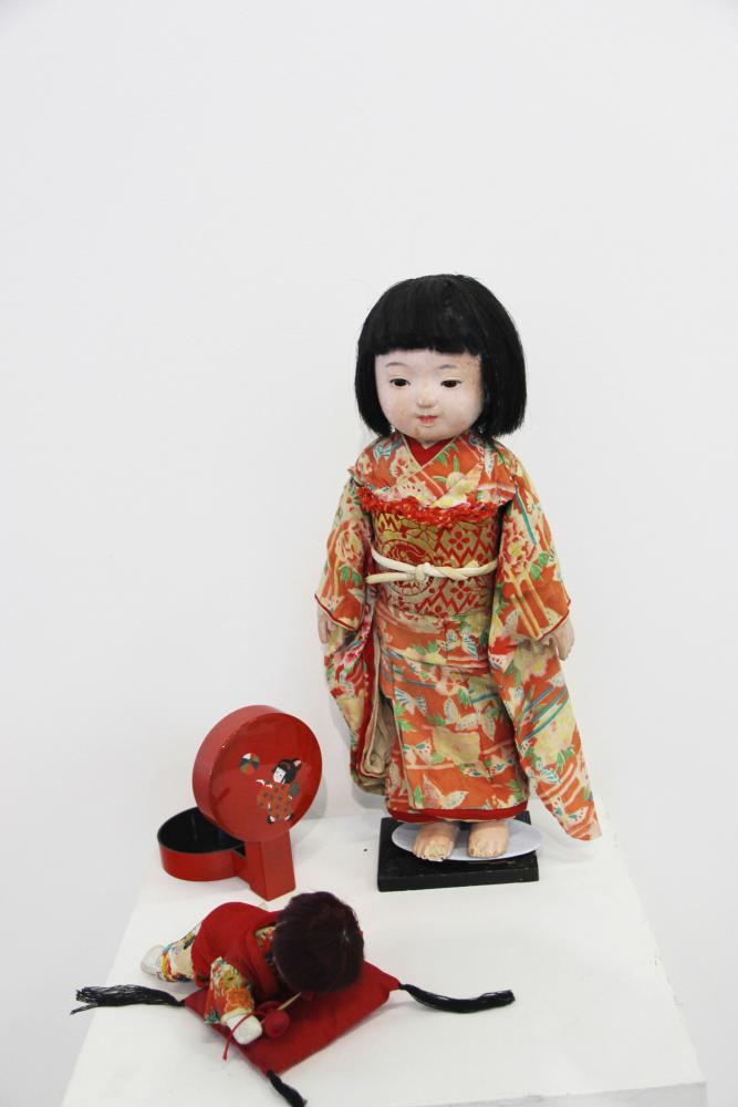 A+Japanese+friendship+doll+on+display+at+the+Asian+Art+Exhibition+at+Cosumnes+River+College+running+from+Sept.+25+to+Oct.+4.
