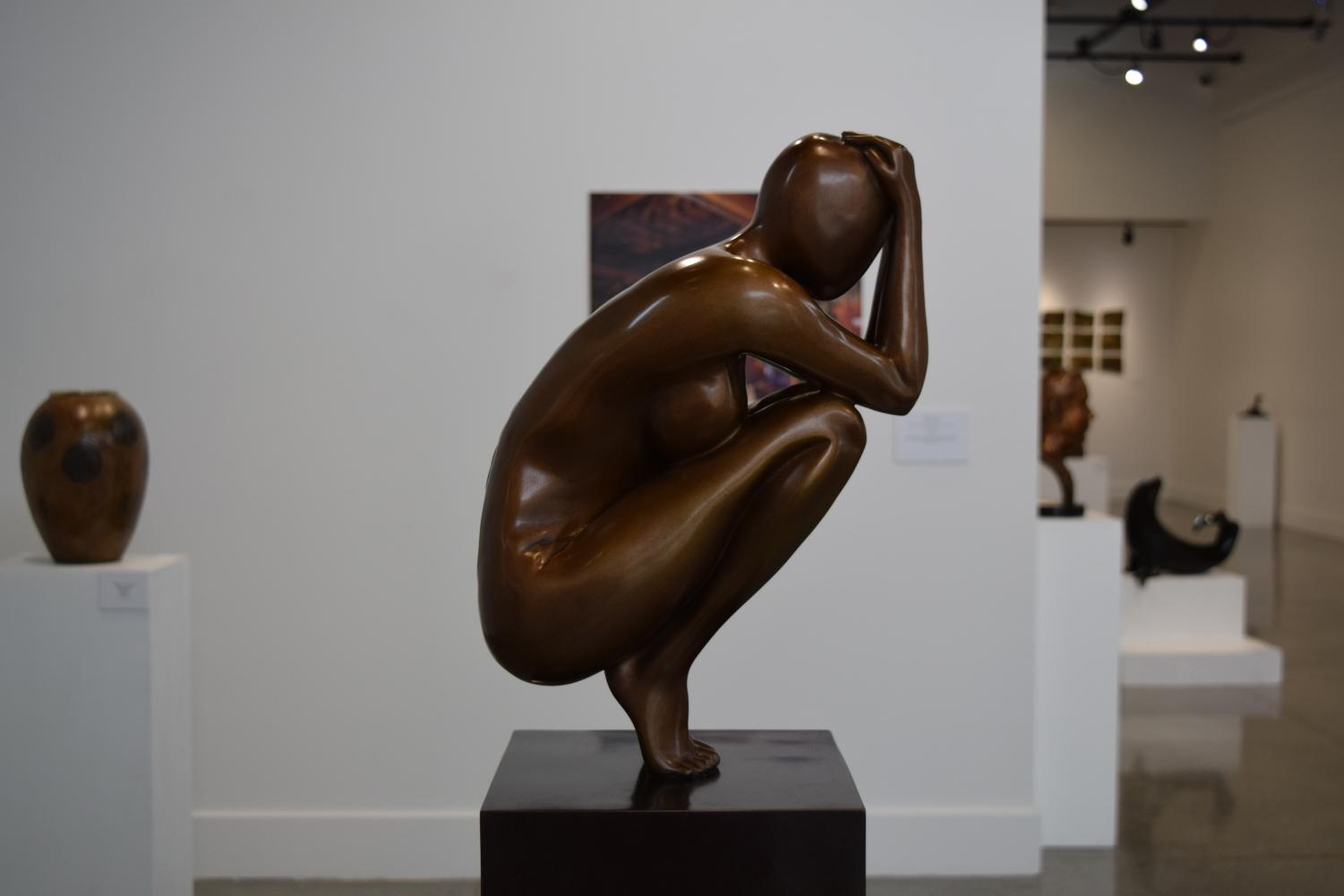 One of the sculptures in the Expressions in Bronze art exhibit. The exhibition is open until Nov. 30 from Monday through Thursday between 11 a.m - 5 p.m.
