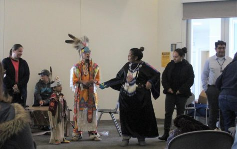 The Rocha family performs for attendees of the Resource and Education Fair on Nov.15, the second event during Native American Heritage Week.