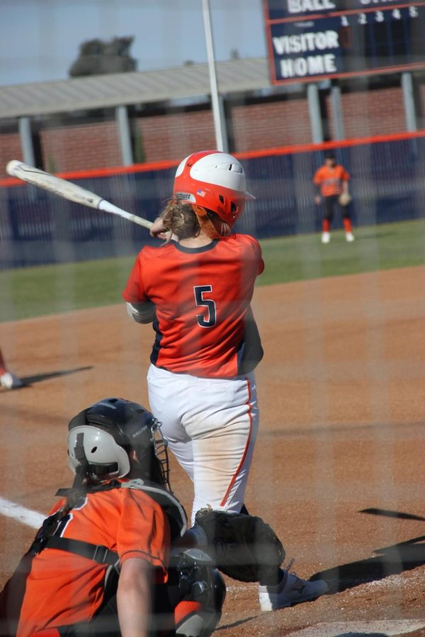 Sophomore Third baseman Taelor Ford at bat against Lassen College on Feb. 20.