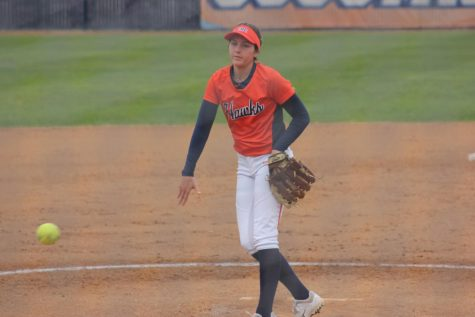 Softball team shuts out Sacramento City College in conference battle