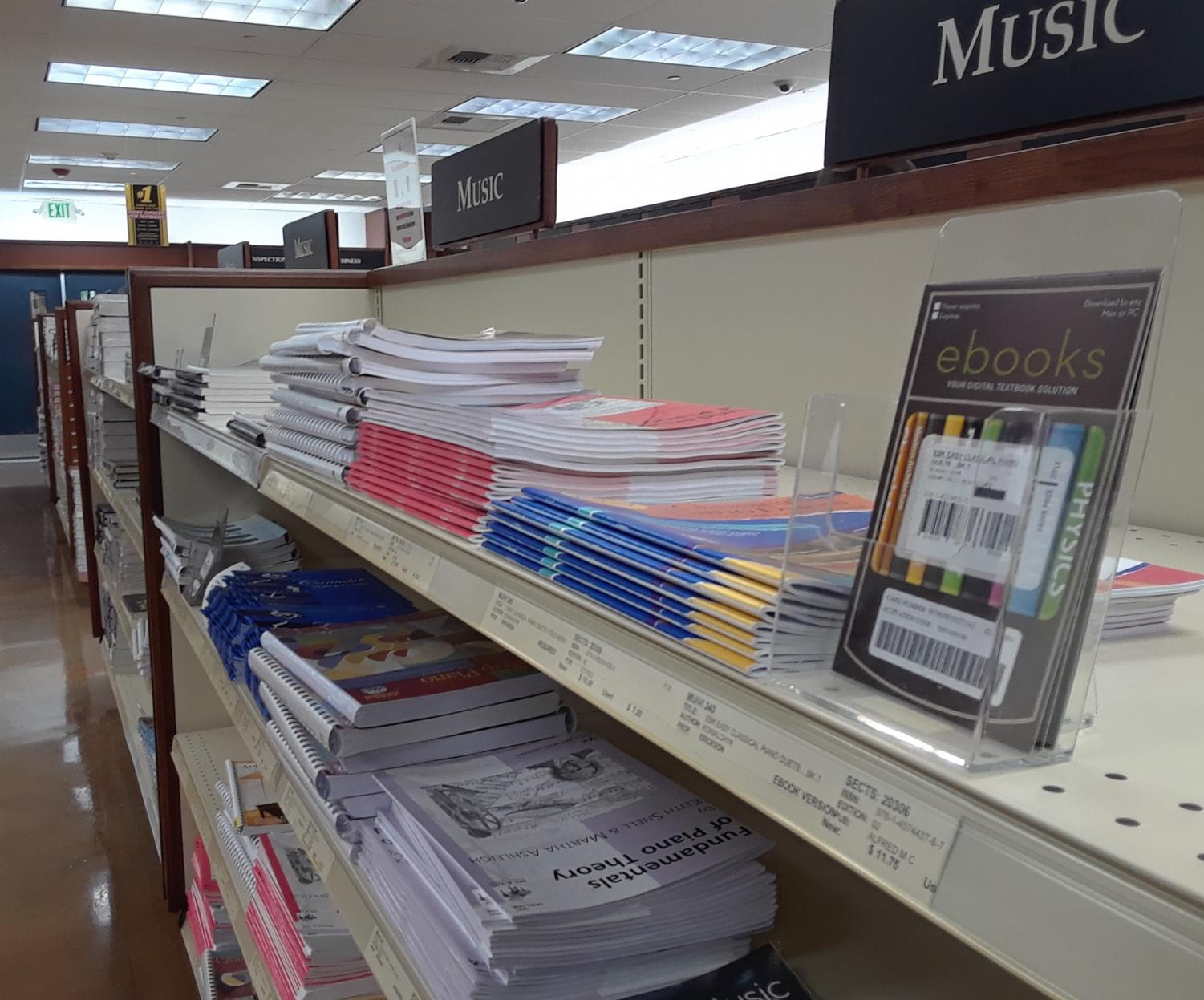 Ebooks and textbooks alike are available in the CRC bookstore.