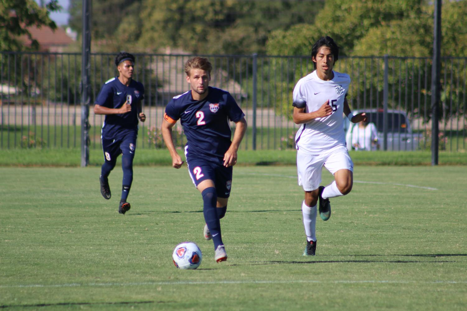 Freshman midfielder Dominic Maestretti helps lead a stifling Hawks defense. The Hawks are 0-0-2 in conference play and have surrendered only one goal in their last five games.