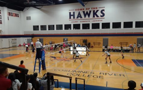 Women's volleyball get their first conference win