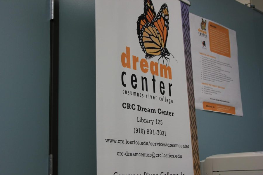 Poster displaying contact information for the Dream Center.