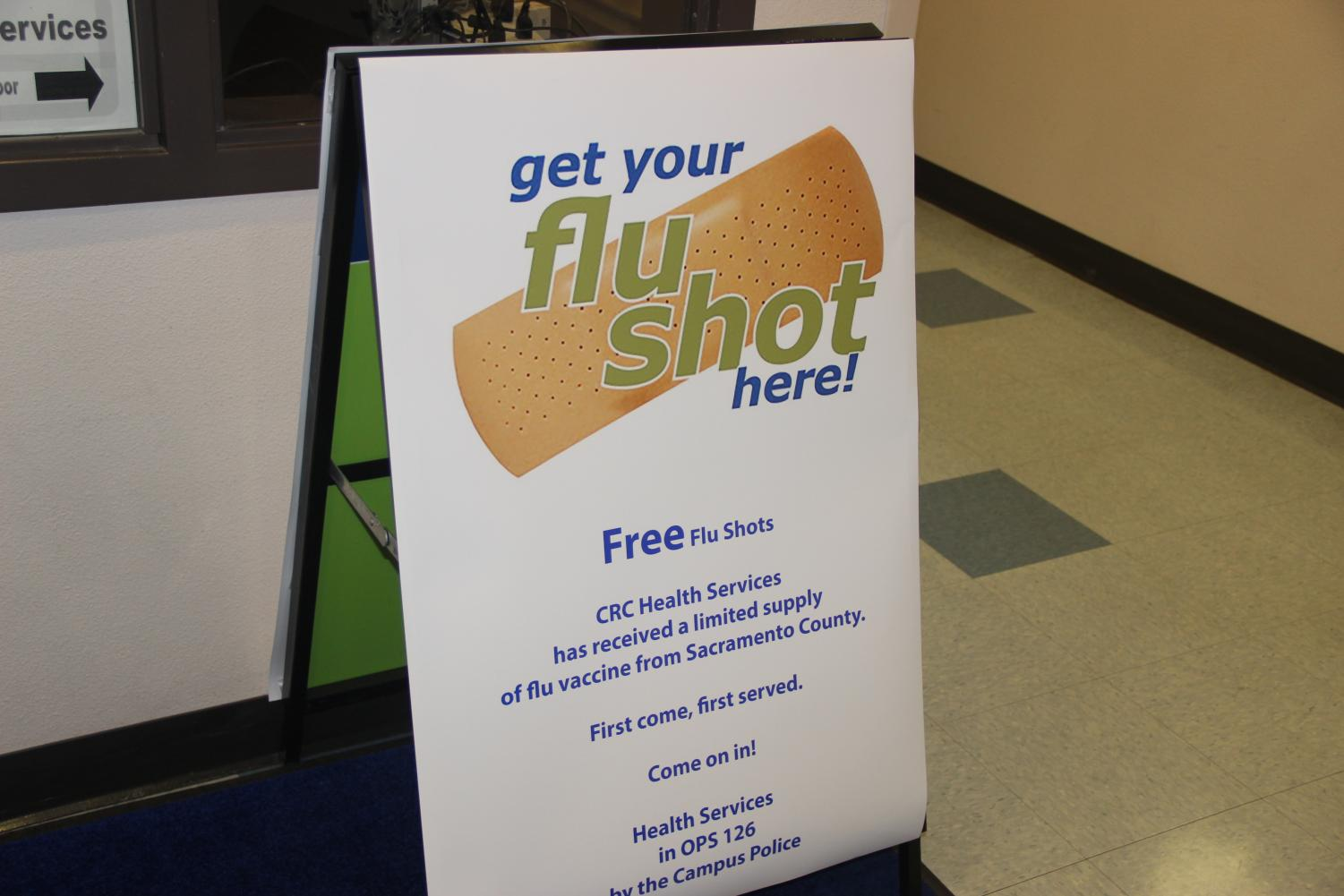 For a limited time, CRC Health Services is offering free flu shots in OPS 126. Flu season accounts up to 49 million deaths year.