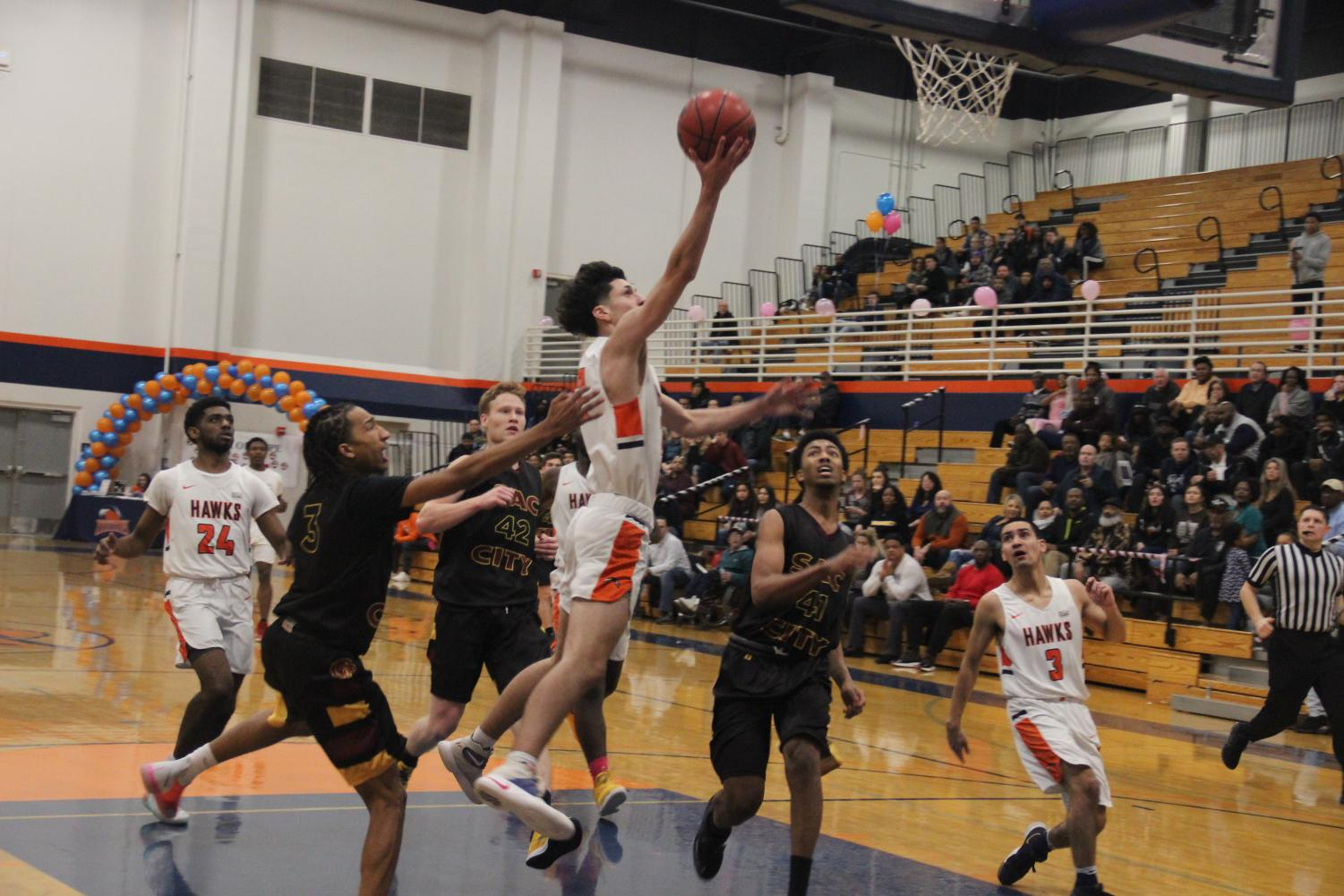 The Hawks played against the Sacramento City College Panthers on Tuesday.
