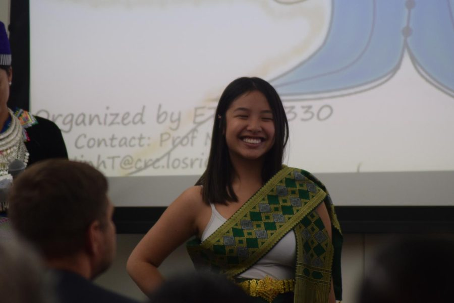 A student participates in the Asian Pacific American Culture Show on April 10. The show was part of other events the campus hosted in honor of Asian Pacific Islander Heritage Week.