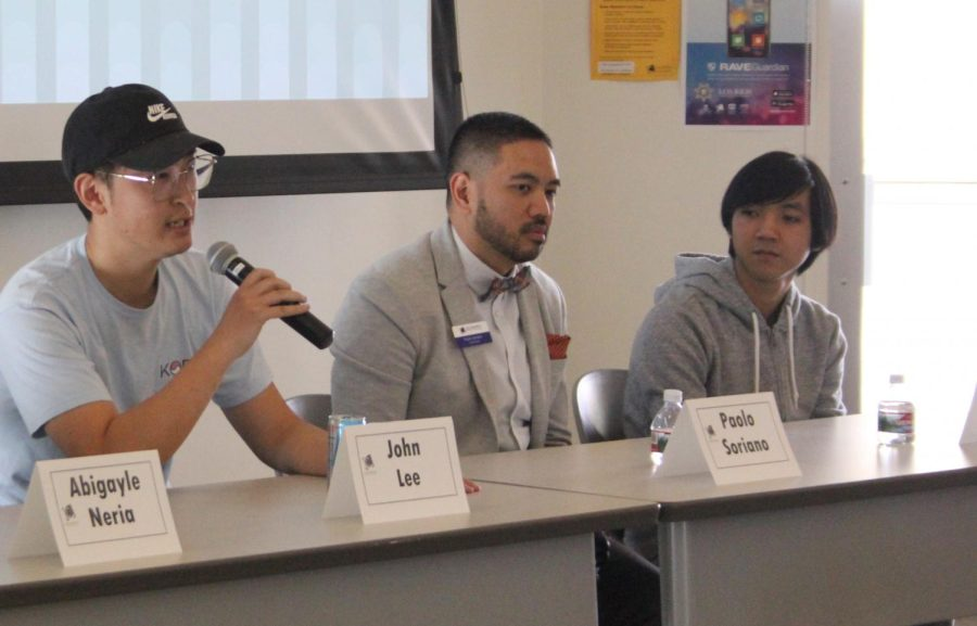 API student panelists spoke about the
