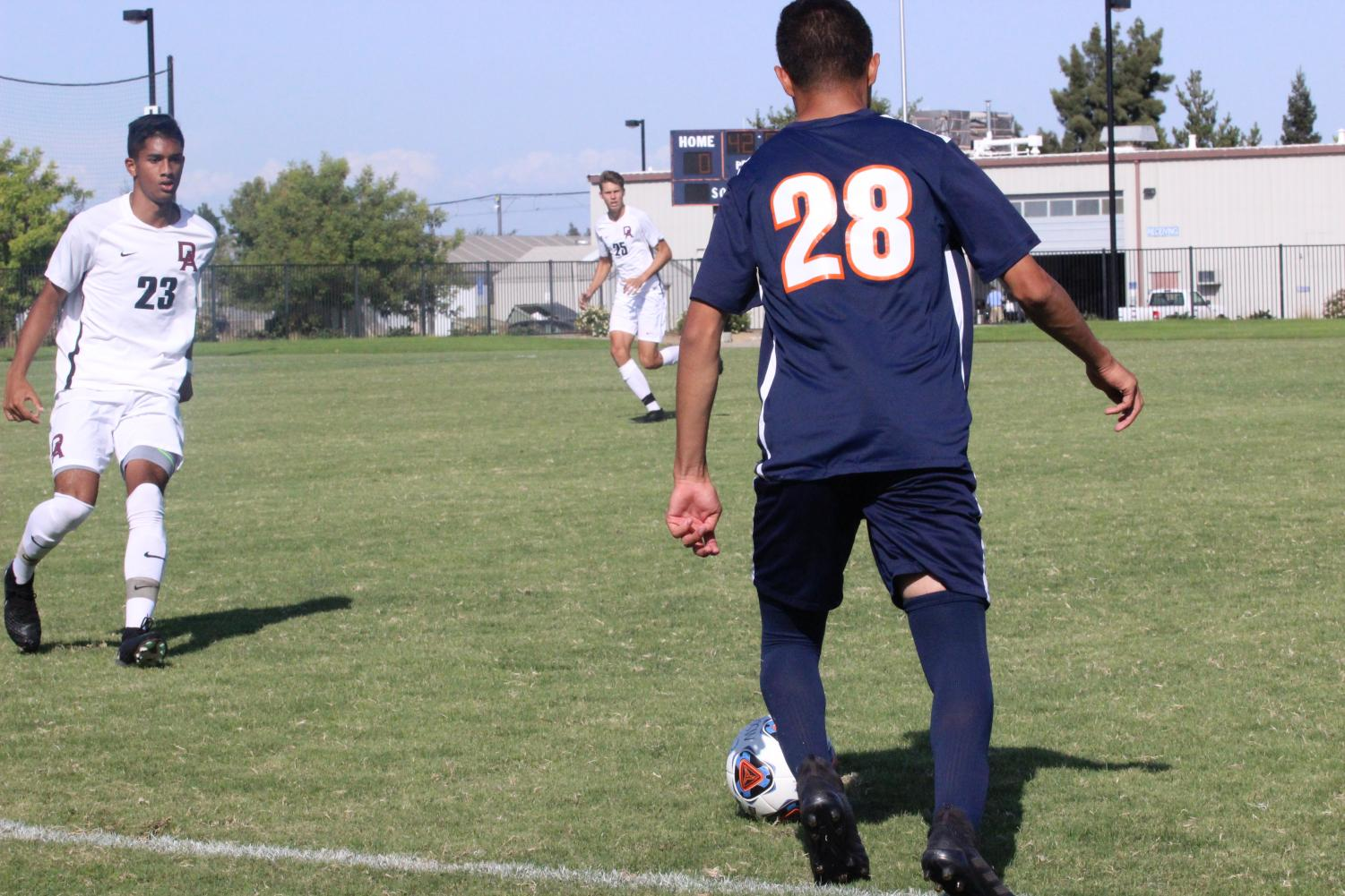 The men's soccer team lost 5-0 to De Anza College. The loss makes this the team's third game they lost consecutively.