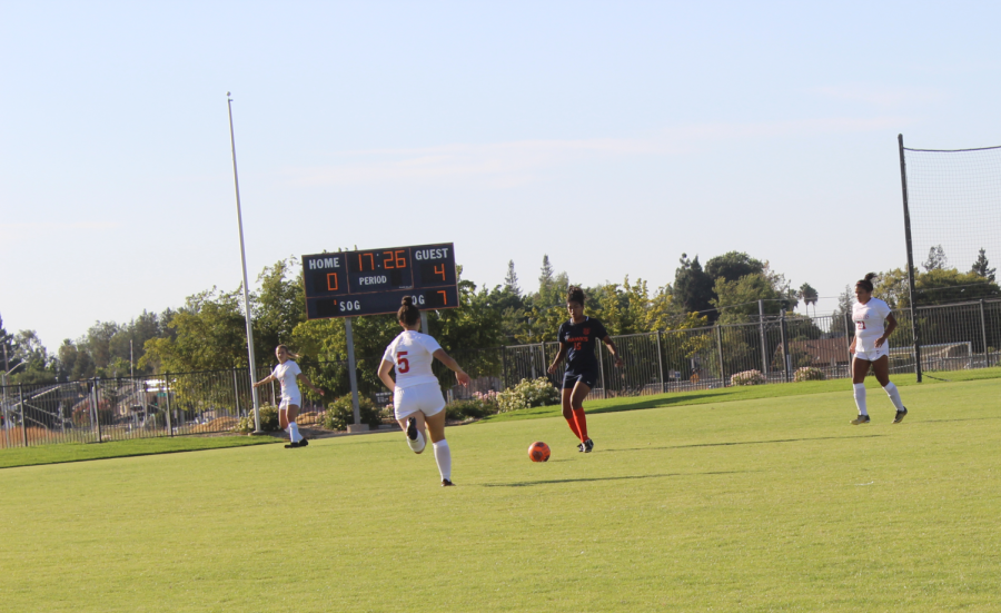 The women's soccer team lost 4-1 against Las Positas College. The game was the first out of seven before the team enters the Big 8 conference.